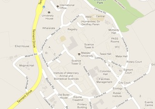 Google map of Massey University Manawatu campus